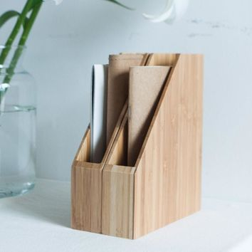 Creative Bamboo Office File Rack Organizer for A4/A5/A6 Paper