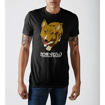 Cowboy Bebop Dog Mens Black T-Shirt