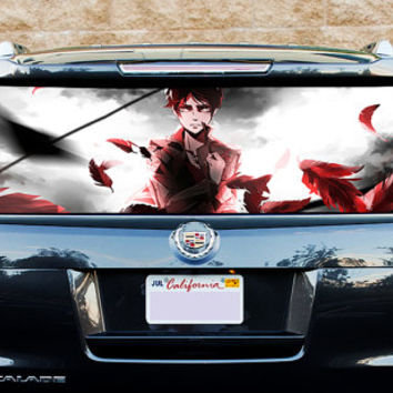 Perfik298 Full Color Print Perforated Film Truck SUV Back Window Sticker Attack on Titan