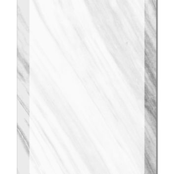 "White Marble Pattern Aluminum 8 x 12"" Dry Erase Board Sign All Over Print by TooLoud"