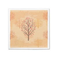 Autumn Trees Standard Cocktail Napkin