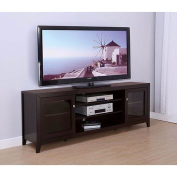 Contemporary Style TV Stand With 2 storage cabinet.