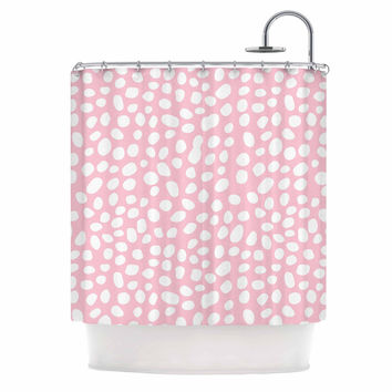 "Wildlife ""Pink Animal Print 4"" White Digital Shower Curtain"