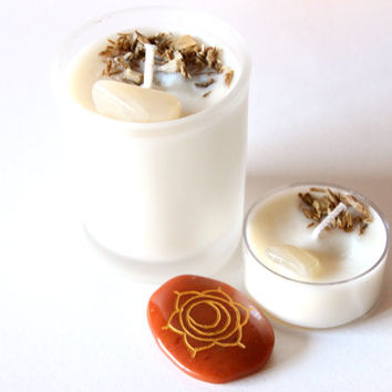 Sacral Chakra Tea Light Soy Candle