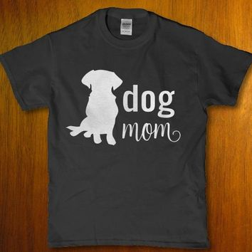 Dog mom awesome dog lover adult Women's t-shirt