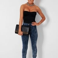 Iggy Blue Marble Wash Skinny Jeans | Pink Boutique