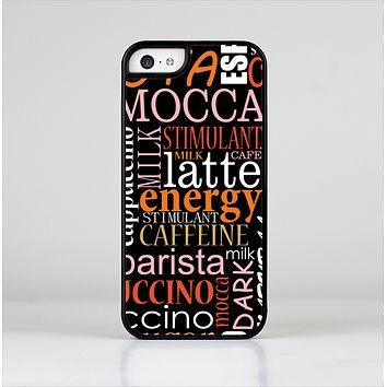 The Cafe Word Cloud Skin-Sert Case for the Apple iPhone 5c