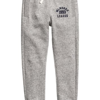 Joggers - Light grey marl - Kids | H&M US