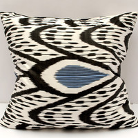21x20 ikat pillow cover,black white pillow cover cushion case
