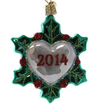Old World Christmas Holiday Heart Glass Ornament