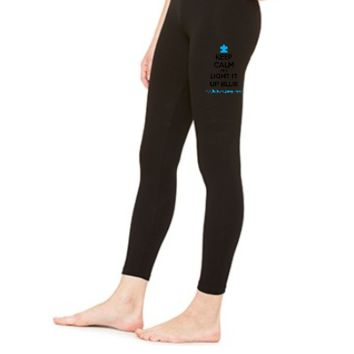 Keep Calm And Light It Up Blue For Autism Awareness - LEGGING