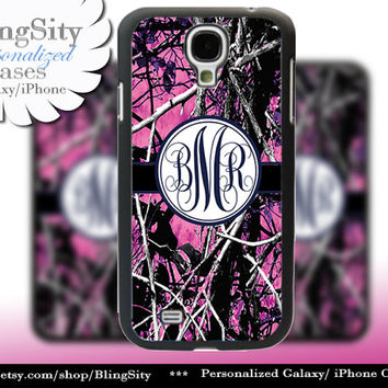 Camo Navy Monogram Galaxy S4 case S5 RealTree Muddy Camo Personalized Samsung Galaxy S3 Case Note 2 3 Cover Country Girl