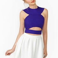 Nasty Gal Unleash Crop Top - Purple