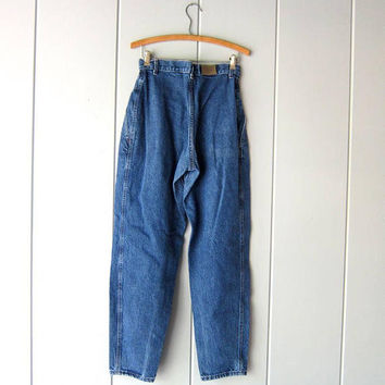 "Vintage 80s Jeans High Waist Dark Blue Denim Jeans LEE Tapered Mom Jeans 1980s Hipster Street Wear Casual Fall Jeans Womens Waist 28"" Med"