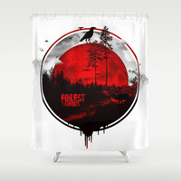 Forest rangers Shower Curtain by HappyMelvin