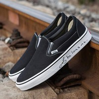 Trendsetter VANS x Love Me Slip-On Old Skool Canvas Flat Sneakers Sport Shoes
