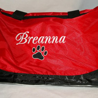 Monogram Personalized Duffle Bag Sports Large Team Mascot