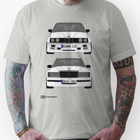 Mercedes-Benz 190E 2 3-16 vs E30 BMW M3 Unisex T-Shirt