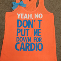 Pitch Perfect - Neon Orange/Turquoise  - Womens Fitness Clothing - Workout shirt - Fitness Shirt - Gym Apparel - Motivational Shirt - Ruffles with Love