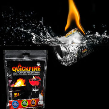 Quickfire All-Purpose Waterproof Fire Starters: Burn for up to ten minutes.