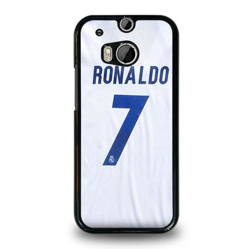 RONALDO CR7 JERSEY REAL MADRID HTC One M8 Case Cover
