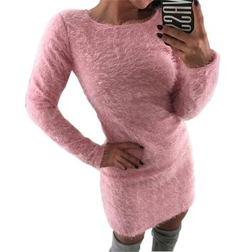 Women Sweater And Pullovers Sueter Mujer Fashion Cashmere Christmas Jumper Female Sweaters Mini Dress Ladies Pull Femme