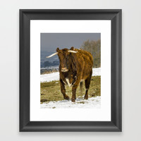 Bully The Bull On A Mission Framed Art Print by Linsey Williams Art