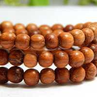 6mm Bayong Wood Beads, Round Bayong Wood Beads, 8mm Wood Beads, 6mm Bayong, Natural Beads, Wood Beads, Wooden Beads, Earthy Beads, D-J04