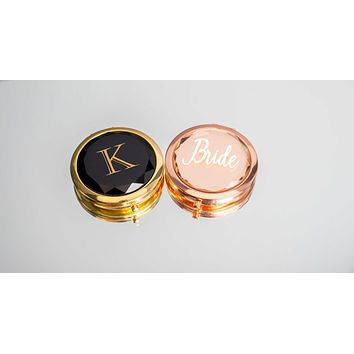 Jewel Top Compact Mirrors
