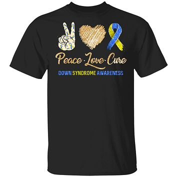 Peace Love Cure Down Syndrome Awareness