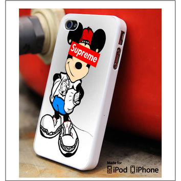 Obey Mickey Mouse Supreme Samsung Galaxy S3 S4 S5 Note 3 4 Case, iPhone 4S 5S 5c 6 Plus Case, iPod 4 5 Case