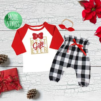 Best Gift Ever Christmas Girl Outfit