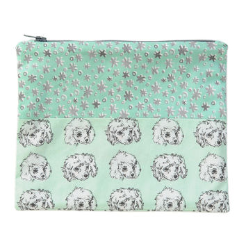 Poodles + Stars Zip Pouch | Original Fabric Designs