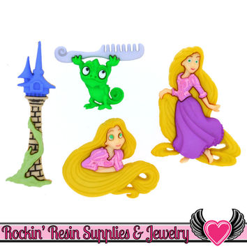 DISNEY TANGLED Rapunzel Dress It Up Jesse James Buttons