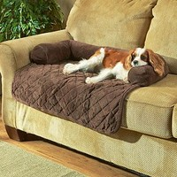 Plush Quilted Pet Bed