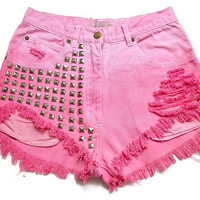 High waisted shorts M by deathdiscolovesyou on Etsy