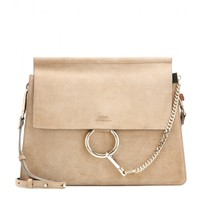 Faye suede shoulder bag