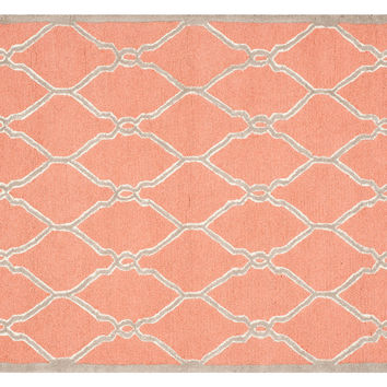 Melita Rug, Coral/Ivory, Area Rugs