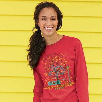 Cherished Girl Rejoice & Be Glad Fall Christian Bright Long Sleeve T Shirt