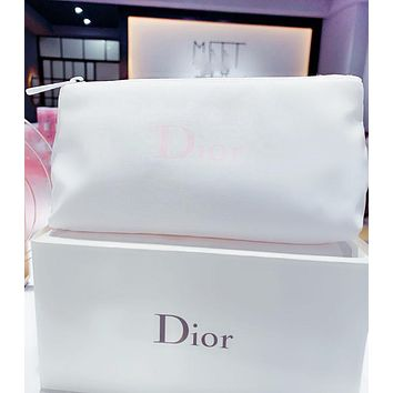 Dior Fashion New Letter Print Storage bag Cosmetic Bag Women