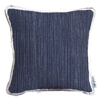 Distressed Stripe Pattern Decorative Throw Pillow w/ Silver & White Reversible Sequins - COVER ONLY (Inserts Sold Separately)