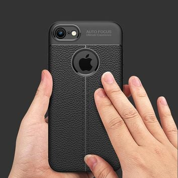 Luxury Cases For iPhone 6 Case 6S Plus TPU flip Leather Protective Back Full Cover For iPhone 7 Case 7 Plus 5 5S SE Phone Case