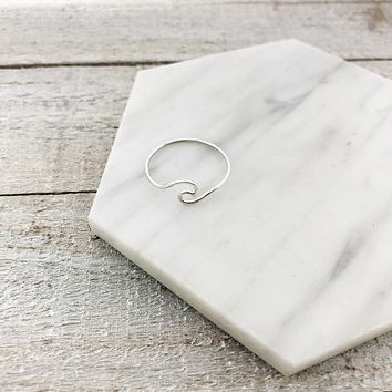 Wave Ring - Sterling Silver Jewelry