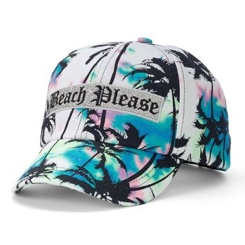 Juicy Couture ''Beach Please'' Palm Trees Baseball Hat - Women, Size: One Size (Grey)