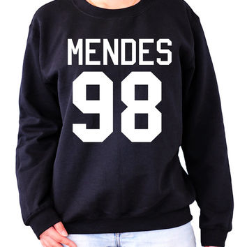 MENDES 98 Sweatshirt Sweater Crew neck Shirt shawn shirt screen on black shirt– Size S M L XL