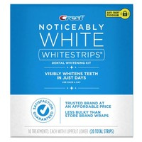Crest Noticeably White Whitestrips Teeth Whitening Kit, 10 Treatments - Walmart.com