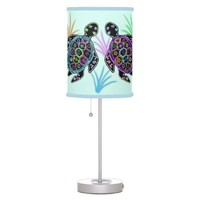 Mosaic Sea Turtles Lampshade