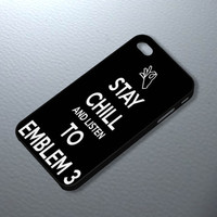 "Emblem3 Keep Calm Listen Art case to iPhone 4/4s/5/5s/5c - Samsung Galaxy S2/I9100, S3/I9300, S4/I9500 -""Surya Design"""