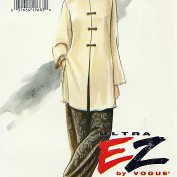 Ultra EZ by Vogue Sewing Pattern 9056 Misses Tunic and Pants Dated 1994 Original not a Repro Sewing Supplies Size 6, 8, 10