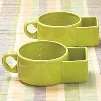 Sets of 2 Soup and Cracker Mugs